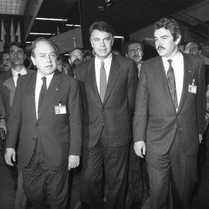 jordi pujol, felipe gonzalez y pasqual maragall en els jocs olimpics 1992 / EFE