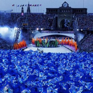 S'inauguren els Jocs Olimpics de Barcelona. Cerimņnia d'inauguració. Font Enciclopčdia