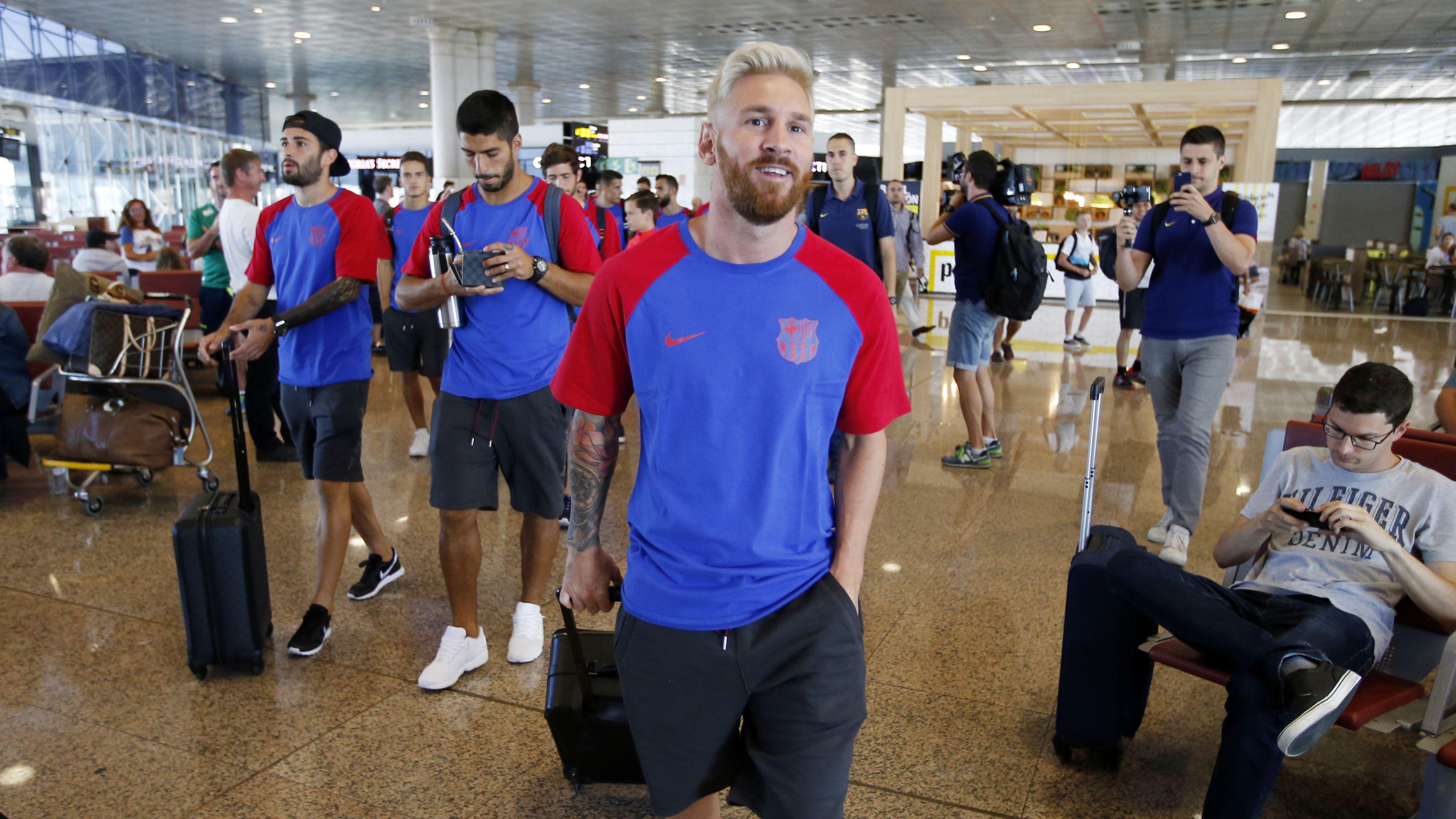 Leo Messi aeroport   FC Barcelona