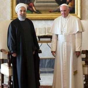 Papa Francesc Hassan Rouhani Vaticà Iran (Vatican News Service) 2000px
