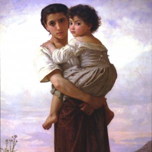 Mare i nen gitano. Font Viquipèdia