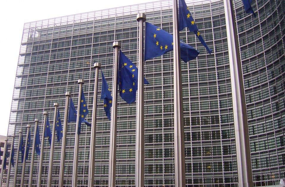Banderas europeas en la Comisión Europea