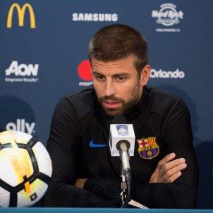 Gerard Pique roda de premsa Barça Estats Units   EFE