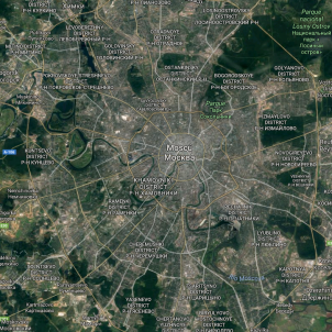 ataque en moscú (rusia) / Google Maps