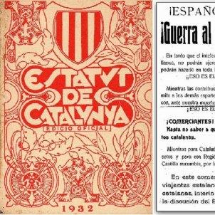 S'aprova en referendum l'Estatut republicà de 1932. Portada Text Estatutari i Pasquí Anti Estatut. Font Arxiu El Nacional