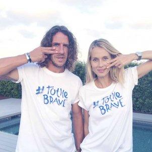 Carles Puyol i la seva parella, la model Vanesa Lorenzo, participen a la campanya To the brave / To the brave