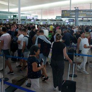 Vaga de seguretat a l'aeroport del Prat / ACN