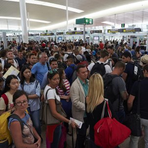 Vaga aeroport del Prat - Efe