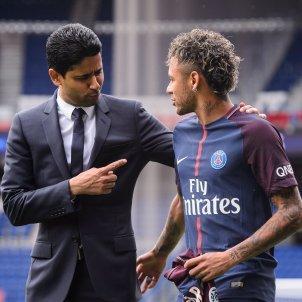 Neymar Al Khelaifi PSG presentacio   EFE
