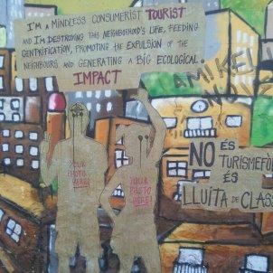 Mural contra turisme Vallcarca