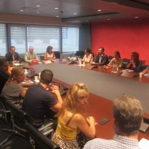 Reunió vaga Eulen Prat - Europa Press