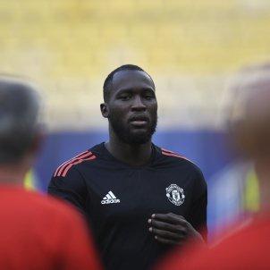 Romelu Lukaku entrenament Manchester United   EFE