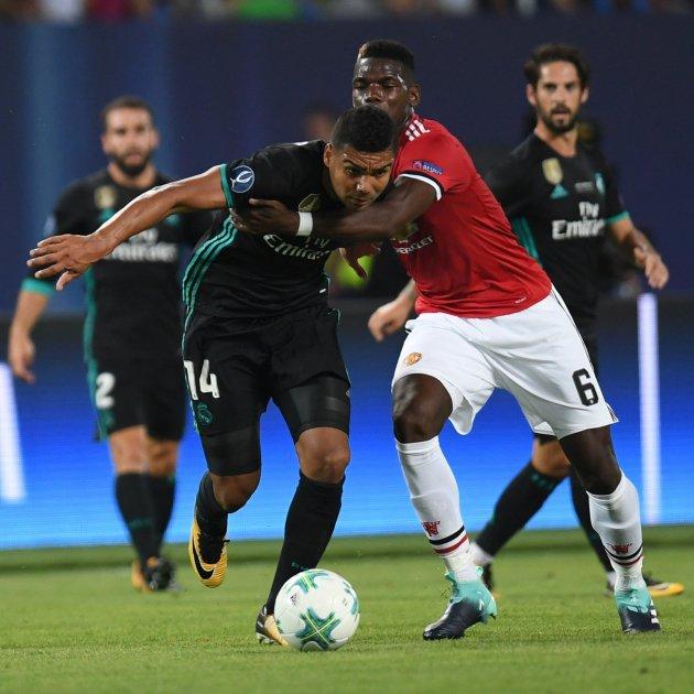 Casemiro Pogba madrid manchester supercopa europa . E