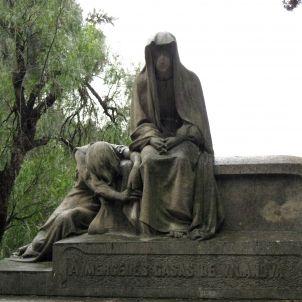 Montjuïc. Tomba. escultura de Josep Llimona, enfo, Viquipèdia