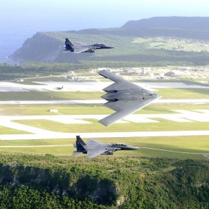 Guam B 2 and F 15 over Andersen Air Force Base (Cecilio Ricardo)