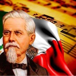 Jaume Nunó compon l'Himne Nacional de Mexic. Font Google.sites