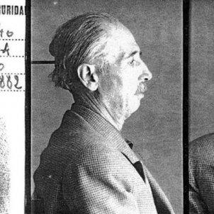 Els nazis detenen i empresonen el president Companys. Fitxa policial de la DGS franquista. Font Wikimedia Commons