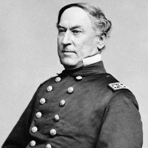 Mor David Farragut, el primer almirall dels Estats Units. Fotografia David Farragut. Font Viquipèdia