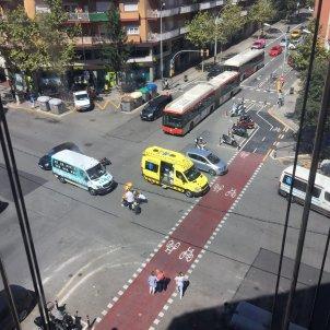 Accident moto i cotxe Toni Piqué