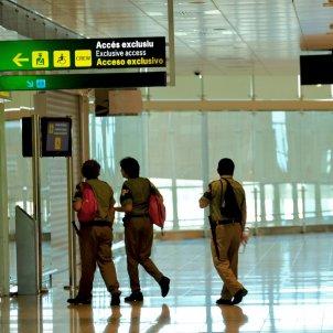 Treballadors de Seguretat d'Eulen a l'aeroport del Prat / Sergi Alcàzar