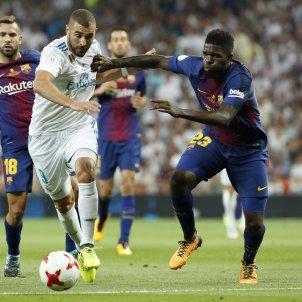 Umtiti Benzema Reial Madrid Barça Efe