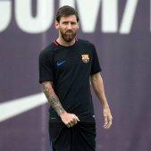 Leo Messi entrenament FCB Barça   EFE