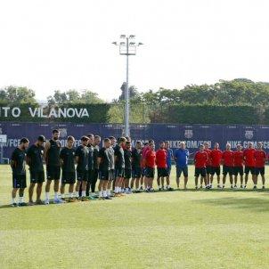 Barça minut silenci entrenament   EFE