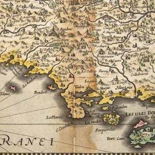 La Provença. Mapa de la Provença (1621). Font Arxiu Departamental de les Bouches du Roine