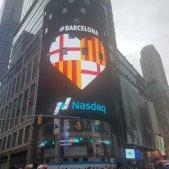Cor escut Bcn Times Square - @Eric_Benitez1