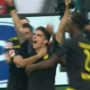 Marc Bartra celebració gol Dortmund   ESPN