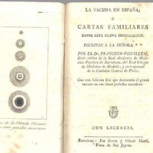 Mor Francesc Piguillem. Imatge de la seva obra. 1801. Font Galeria de Metges Catalans