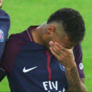 Neymar plorar PSG minut Barcelona