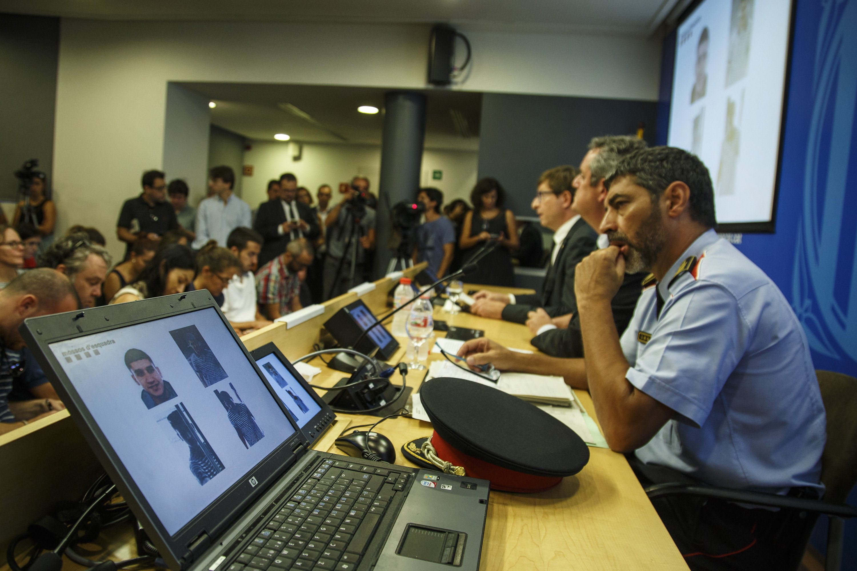 Roda de premsa Interior Trapero Younes Abouyaaqoub - Sergi Alcàzar