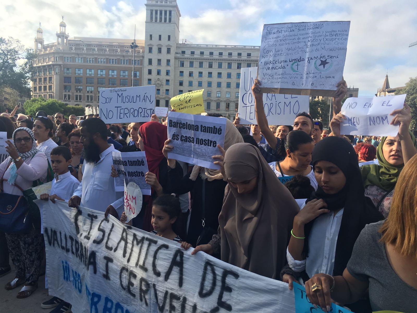 Manifestació musulmans Nico