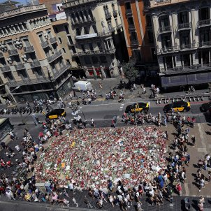 flors barcelona atemptat rambla efe