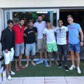 Messi Luis Suárez Neymar Dani Alves Piqué Rakitic Douglas @neymarjr