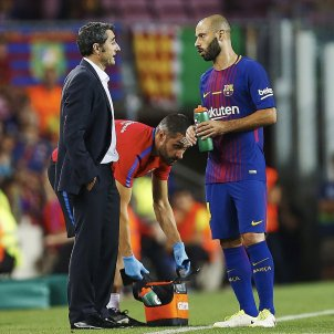 Ernesto Valverde Javier Mascherano Barça Betis Camp Nou   EFE