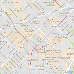Passeig de Gràcia / Google Maps