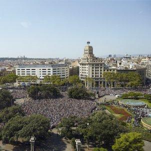Minut de Silenci atemptat barcelona Plaça catalunya - Sergi Alcàzar