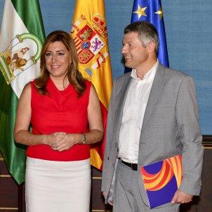 Joaquim Coll Susana Díaz Josep Ramon Bosch 20140728 (Junta de Andalucia)