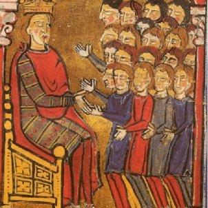 El comte de Barcelona rep el vassallatge dels barons de Carcassona. Font Viquipèdia