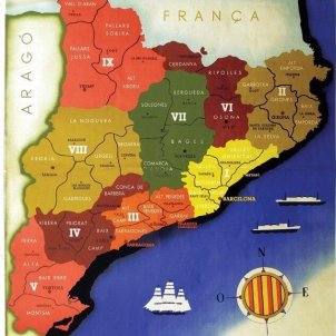 S'aprova la llei de comarcalització de Catalunya. 27 08 1936. Font Viquipèdia