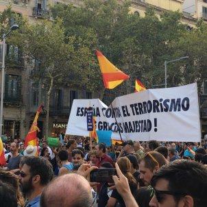 Manifestació pancarta majestat - N.T
