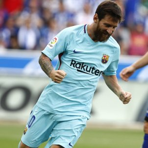 Leo Messi gol Alabès Barça   EFE