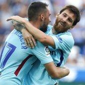 Leo Messi Paco Alcacer Barça Malaga   EFE
