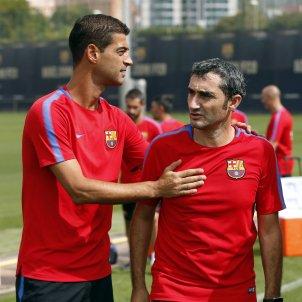 Gerard López Ernesto Valverde entrenament Barça FC Barcelona
