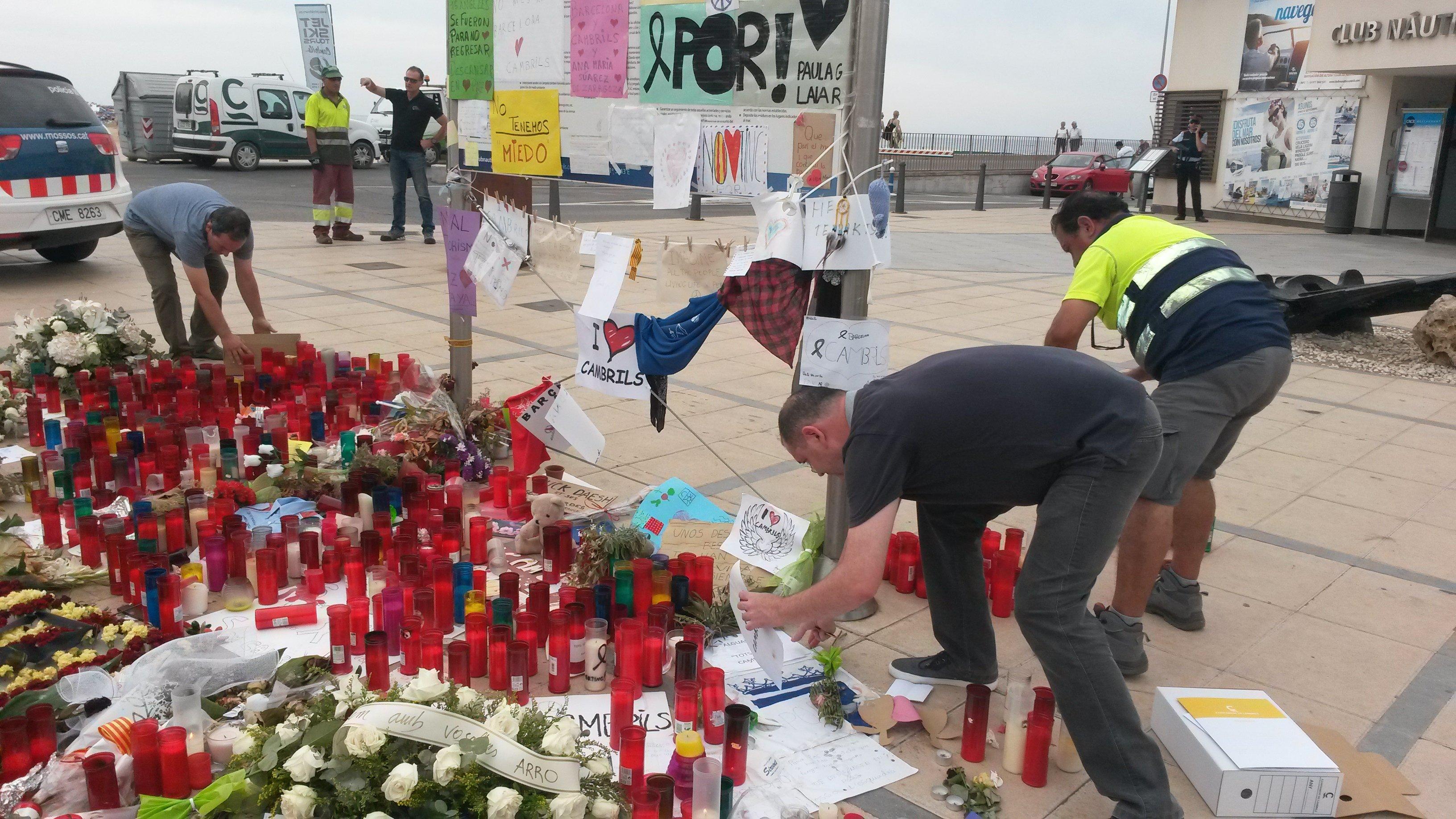 Cambrils atemptat memorial recollida ACN