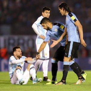 Leo Messi Luis Suárez Argentina Uruguai Efe