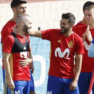 Iniesta David Villa selecció espanyola Espanya Efe