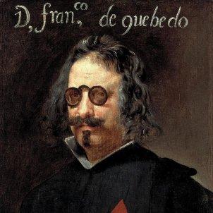Mor Quevedo, el vocero de la propaganda anti catalana. Representació pictórica. Font Viquipèdia